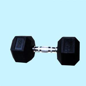 Rubber Hex Dumbbell-Fitness