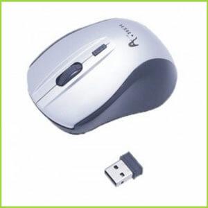 A.Tech Wireless Mouse-Silver-Computer