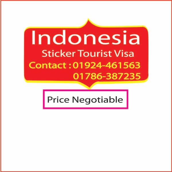 Indonesia Sticker Tourist Visa