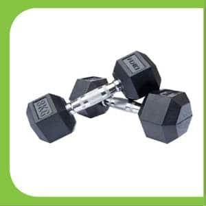 Rubber Hex Dumbbell 16 Kg Fitness